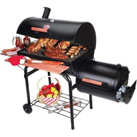 Char-Griller Smokin' Pro Charcoal Grill with Side Smoker