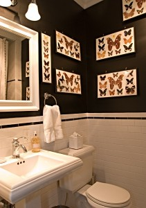 Butterfly Inspired Powder Room