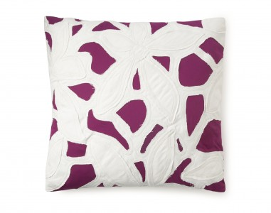 DVF Cutout Appliqué Pillow in Beet
