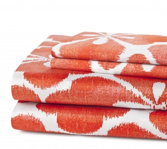 DVF Island Clover Sheets and Pillowcases in Flame