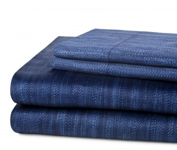 DVF Rattan Sheets and Pillowcases in Indigo