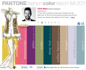 Pantone Color Forecast Fall 2011