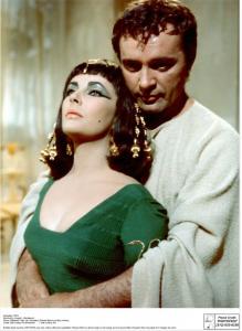 "Elizabeth Taylor and Richard Burton in the film ""Cleopatra"""