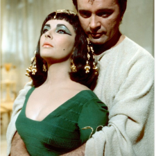 "Elizabeth Taylor and Richard Burton in the film ""Cleopatra"""