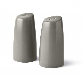 DVF Pebblestone Collection Salt and Pepper Shaker in Smoke Grey
