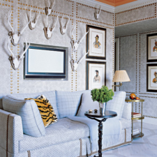 Room Designed by Jeffrey Bilhuber, Elle Decor, May 2007