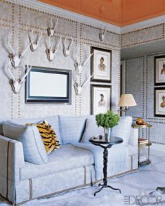 Room Designed by Jeffrey Bilhuber, Elle Decor, May 2007